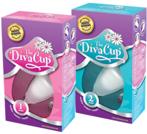 Diva Cup photo, that I took from the Diva Cup website.  It comes in 2 sizes, basically pre-babies or post babies